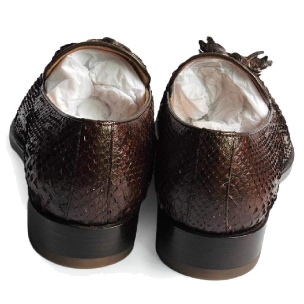 Benutzerdefinierte Niedrige High End Goodyear Handmade Business Casual Runde Kopf Niedrige Benutzerdefinierte Ferse Schuhe Bequeme Snakepattern 1c31f6