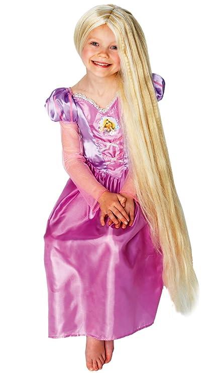 Amazon.com: Las niñas Rapunzel largo rubia – Peluca de ...