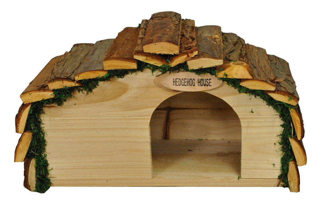 Selections Maison de hérisson en bois avec écorce de toit