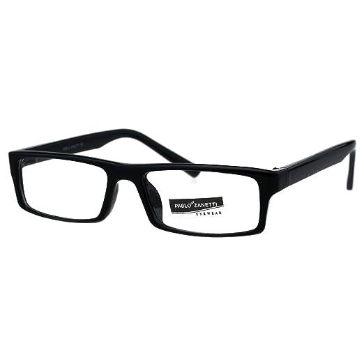 b2e4249ae9 Womens Narrow Rectangular School Teacher Plastic Eyeglasses Frame Black