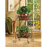Wire Basket Plant Stand Black