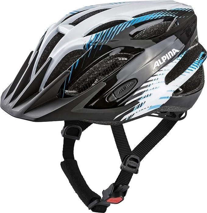 ALPINA Tour 2.0 – Casco para Bicicleta, Todo el año, Unisex, Color Black-White-Blue, tamaño 58-62: Amazon.es: Deportes y aire libre