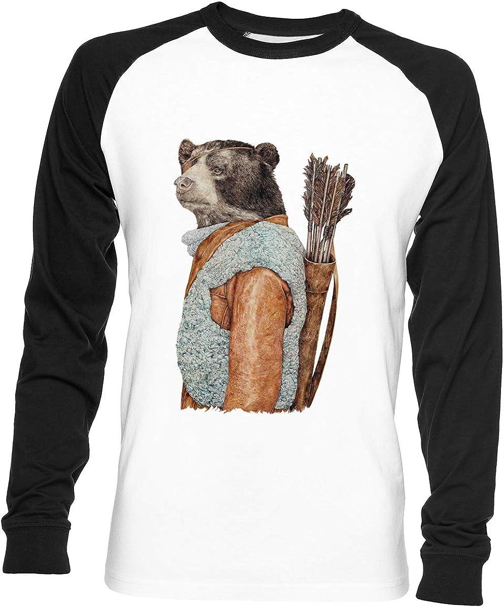 Cazador Unisex Hombre Mujer Béisbol Camiseta Blanco Unisex Baseball T-Shirt: Amazon.es: Ropa y accesorios