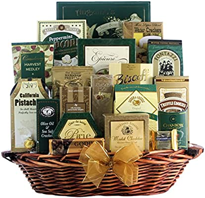 Amazon.com : Great Arrivals Champagne Gift Basket, The Gourmet Sophisticate : Gourmet Snacks And Hors Doeuvres Gifts : Grocery & Gourmet Food