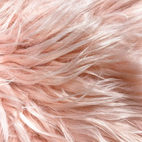 - Peach Papaya Mongolian Fur Fabric