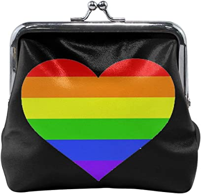 Lesbian Love Kiss Pride Gay Vintage Pouch Girl Kiss-lock Change Purse Wallets Buckle Leather Coin Purses Key Woman Printed