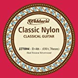 D'Addario J27H04  Student Nylon Classical Guitar Single String, Hard Tension, Fourth String