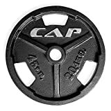 CAP Barbell Machined Olympic Grip plate, Black, 45 lb