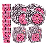 Makeup Glamour Birthday Party Supplies Set Plates Napkins Cups Tableware Kit for 16