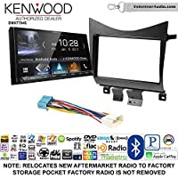 Volunteer Audio Kenwood DMX7704S Double Din Radio Install Kit with Apple CarPlay Android Auto Bluetooth Fits 2003-2007 Accord