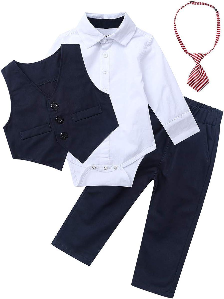 Shirt 80 86 92 104 110 Pants Hose Outfits Gr YiZYiF 3 St/ück Baby Kinder Jungen Kleidung Set Party Taufe Hochzeit Smoking Anz/üge /& Sakkos Mantel Coat