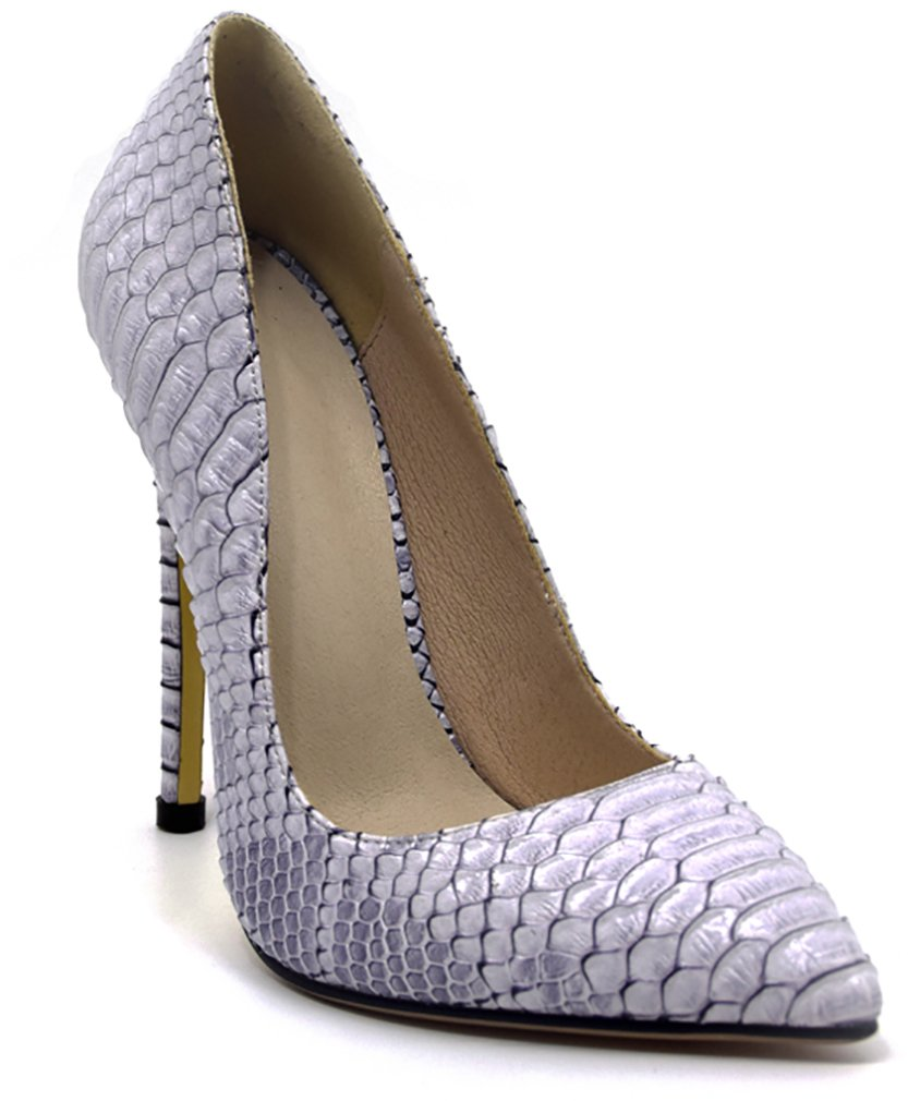 Arraysa Mujer Aaaat12 Tacón De Aguja 12CM Sintético Ponerse Zapatos de tacón 38 EU|Morado