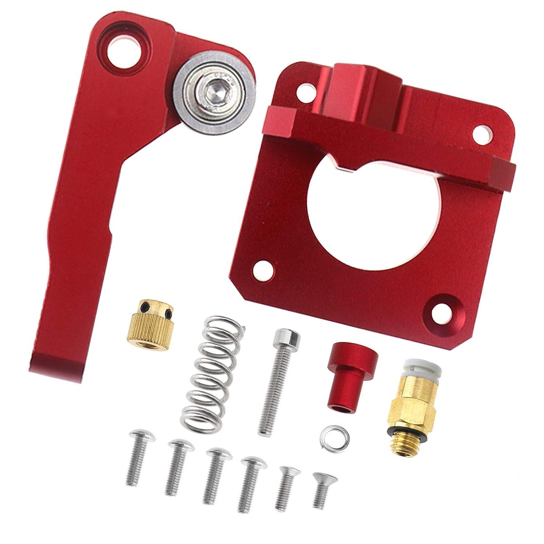Colore Rosso ENET MK8 Sostituzione aggiornata Base per filamento CR-10 Series 1,75 mm Telaio in Alluminio Estrusore per Stampante 3D Destra