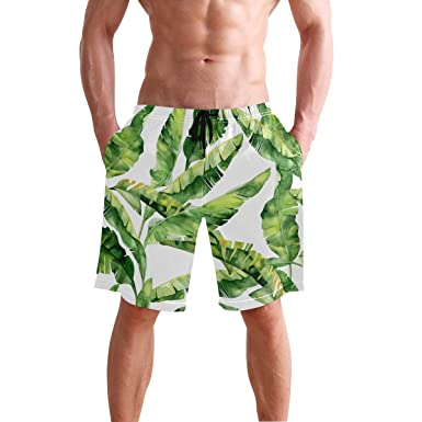 c7e7b5d05643f CENHOME Mens Swim Trunks Green Tropical Palm Leaves Beach Board ...