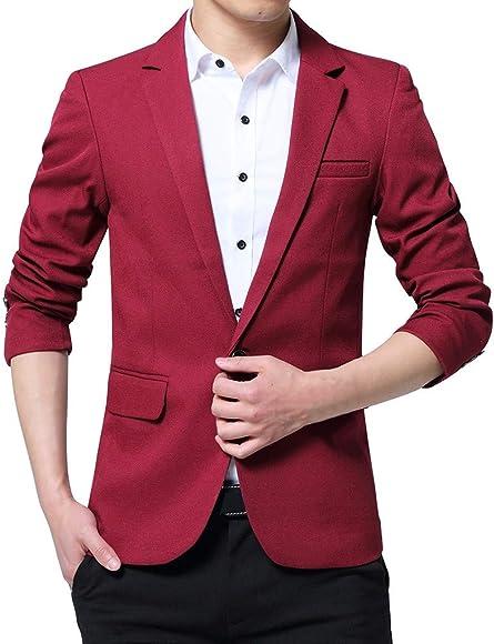 Traje de hombre Blazer, NDGDA moda masculina 2019 un botón Slim ...