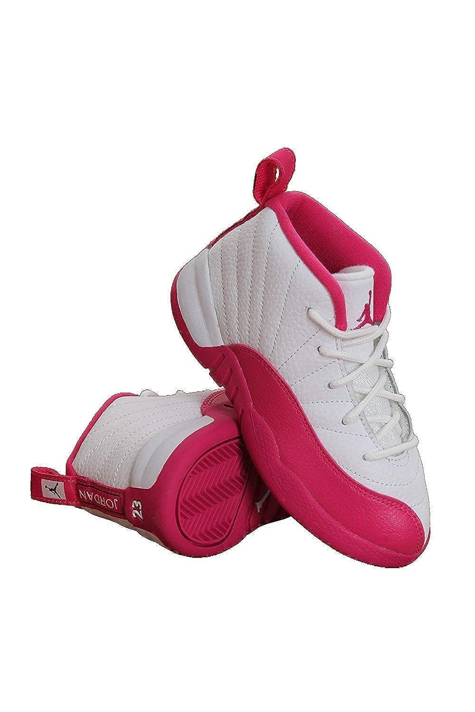 online retailer ef51e f9f64 819666-109 Kids Infant Jordan 12 Retro GT Jordan White/Metallic Silver/Pink