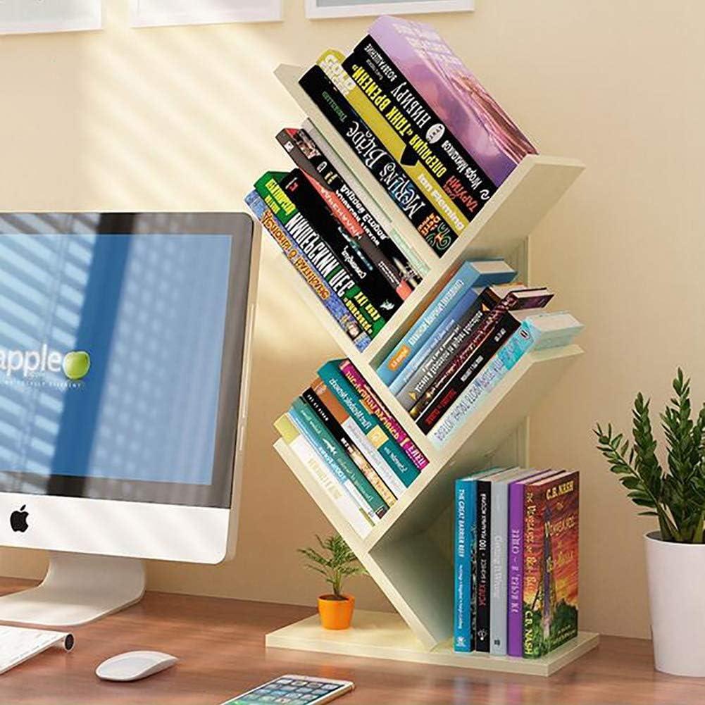 Tree Desktop Bookshelf Storage Rack,Standing Book Organizer Shelf Simple Open Study Organizer Bookcase Office Home Decor Space A 31x17x59cm 12x7x23inch