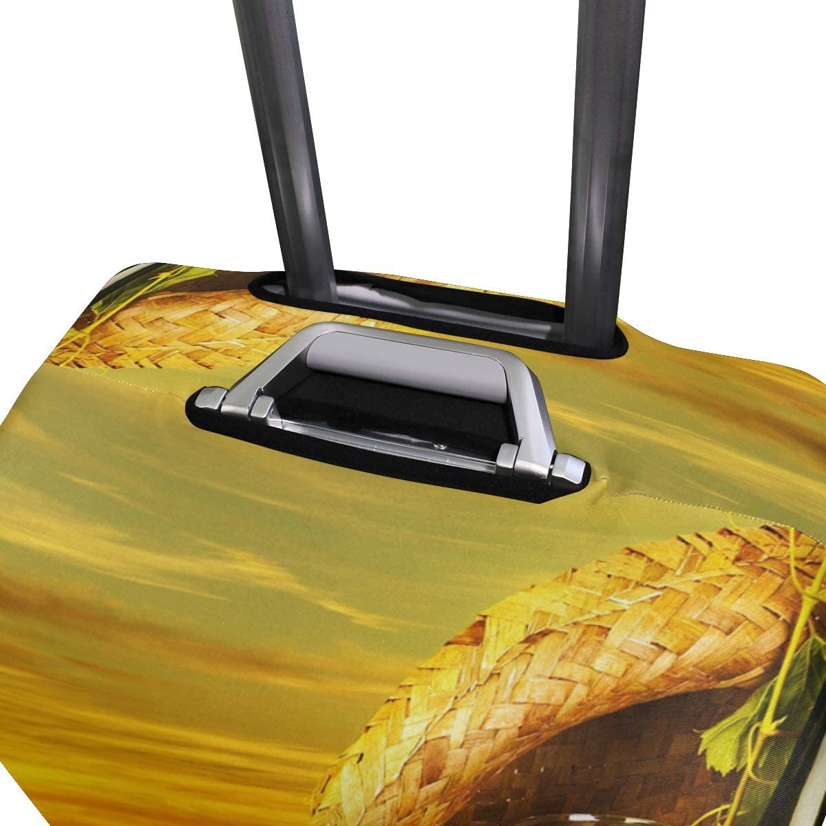 Outdoor Elastic Luggage Cover Suitcase Protector Fits 26-28 Inch Bottle Wine Cheese Plantation Travel
