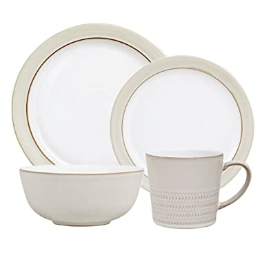 Denby USA Natural Canvas 4PC Placesetting