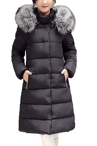 Elegantes de sudadera con capucha de lana Lana Abrigo Abrigos de las mujeres con la piel
