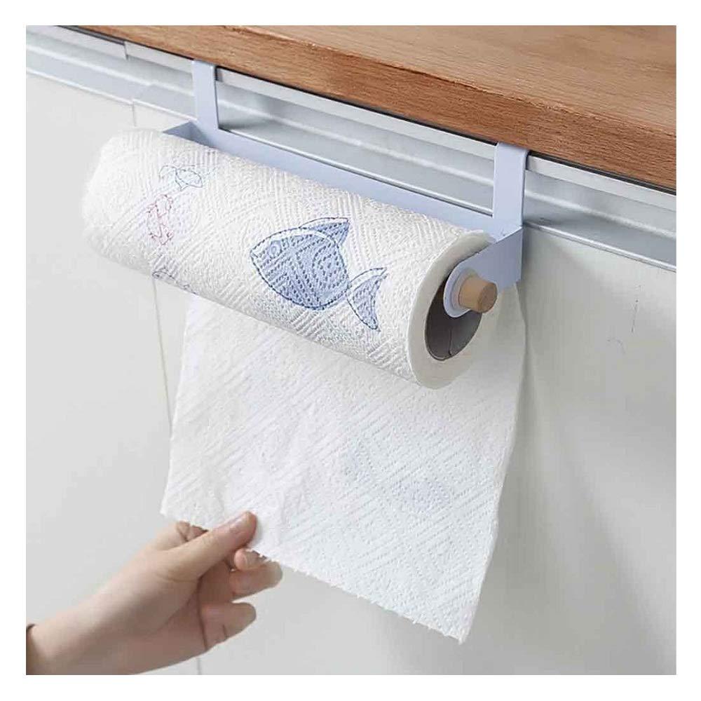 Anyren Roll Holder Paper Towel Rack Tissue Hanger Organizer Rack Toilet Paper Holder for Kitchen Bathroom Under Cabinet Over Door