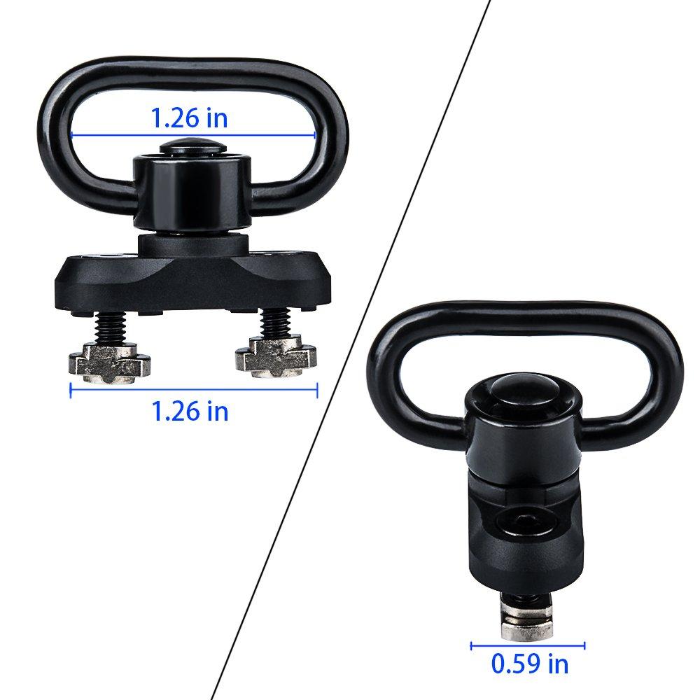 Omamba M-lok Sling Mount, Push Button QD Sling Swivel Adaptor for M-lok Rail by Omamba (Image #3)