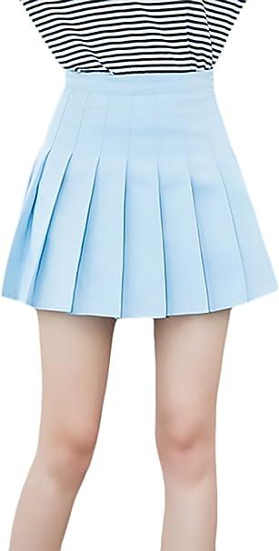 Minifalda Mujer Verano Moda Color Sólido Uniforme Falda Clásico ...