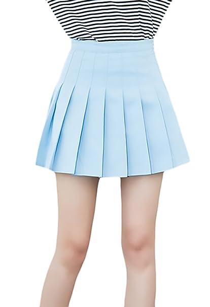 479286c6e5 Minifalda Mujer Verano Moda Color Sólido Uniforme Falda Plisada Basic  Elegantes Casual Cintura Alta Una Línea Faldas Ropa  Amazon.es  Ropa y  accesorios