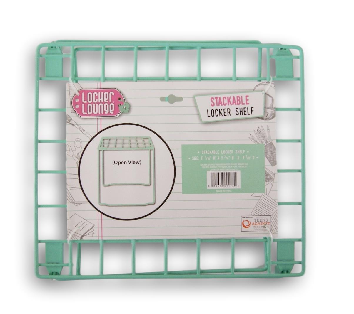 Locker Lounge Stackable Locker Shelf - 11 3/16 x 9 3/4 x 9 7/8 Inches (Mint Green)