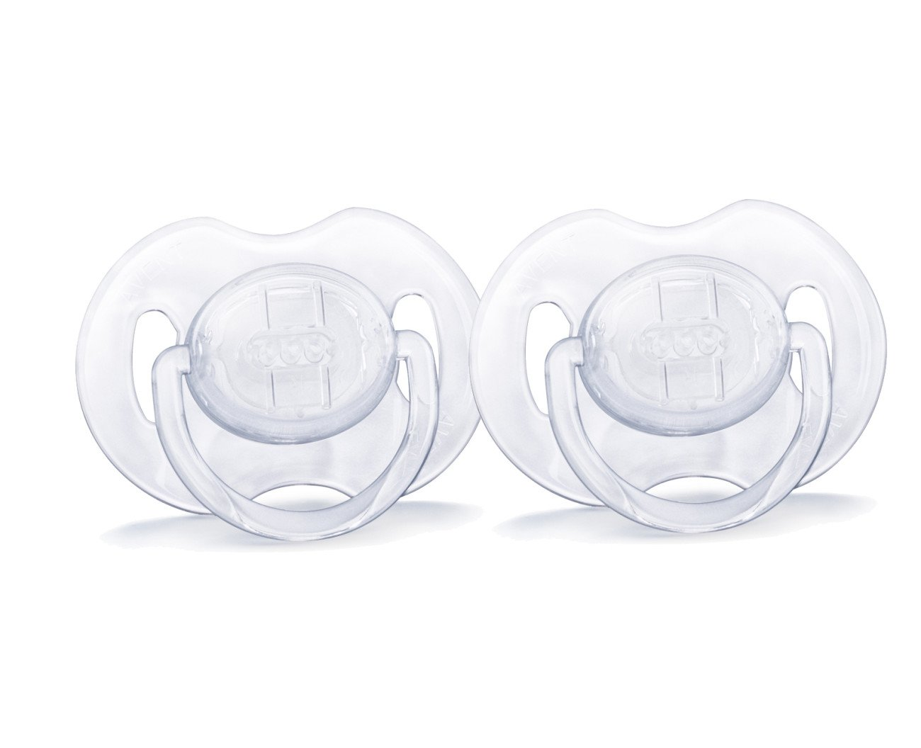 Philips AVENT Translucent Orthodontic Infant Pacifier, Clear, 0-6 Months, 2 Count SCF170/17