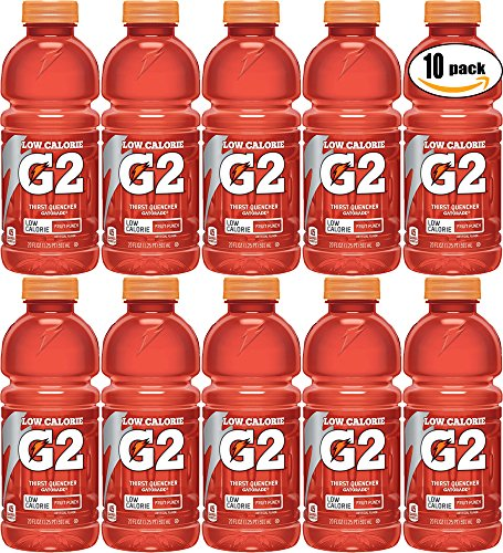 Gatorade G2 Fruit Punch, Low Calorie Thirst Quencher, 20oz Bottle (Pack of 10, Total of 200 Oz) by Gatorade (Image #1)