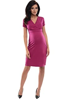 Purpless Maternity Nightdress for Pregnant Breastfeeding Women with Buttons 5041n