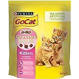 Go-Cat Crunchy and Tender Kitten Dry Cat Food Chicken 800g - Case of 4 (3.2kg)