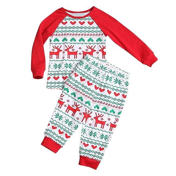 Familiares Pijama de Navidad Ropa De Dormir Rayas Camisetas de Manga Larga Mujer Hombre Bebé Niño Niña Mono Traje de Pijama Conjunto de Familiares-6: ...