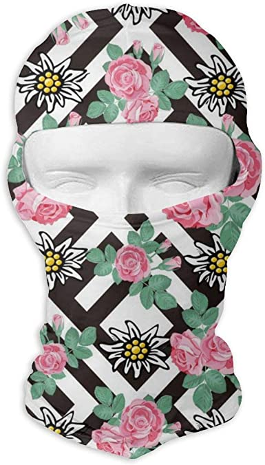 Wind-Resistant Face Mask/& Neck Gaiter,Balaclava Ski Masks,Breathable Tactical Hood,Windproof Face Warmer for Running,Motorcycling,Hiking-Spring Blossom Purple