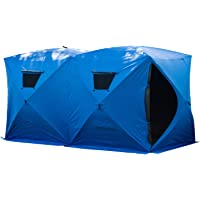 """Outsunny 5-8 Person Ice Shelter Pop-Up Insulated Ice Fishing Tent Outdoor Portable 142"""" x 71"""" x 71"""""""