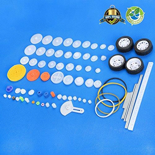 Gear Package Set (Plastic Gear Set Gear Package Gear Kit Plastic Motor Gears For DIY Car Robot 70pcs)
