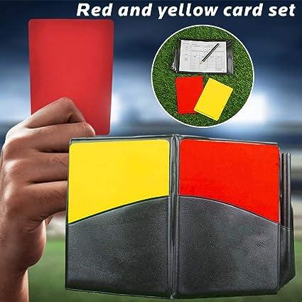 RONDAA Árbitro de fútbol Grabación Tarjetas Amarillas Rojas ...