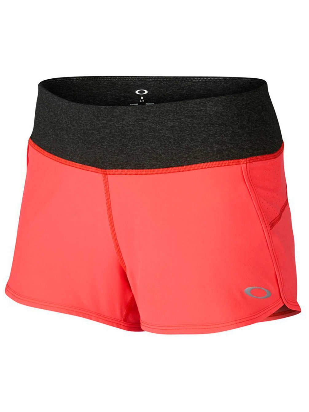 Oakley Womens Crunch And Burn 2.0 Short Large Coral Glow