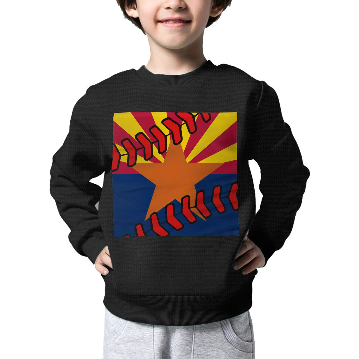 Boys Girls Arizona Flag Baseball Clip Art Lovely Sweaters Soft Warm Childrens Sweater
