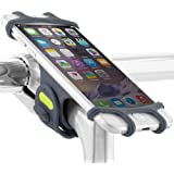 Universal Bike Phone Mount, Bicycle Stem Handlebar Cell Phone Holder for iPhone 8 7 6S Plus 5 SE Samsung Galaxy S8 S7 Note 6, 4 to 6 Inch Smartphones, Bike Tie Pro - Dark Blue