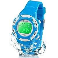 Reloj Niños Niña Digital,Reloj Infantil Digital Multifunción con Pantalla LED Impermeable para Niños, Niñas Reloj…