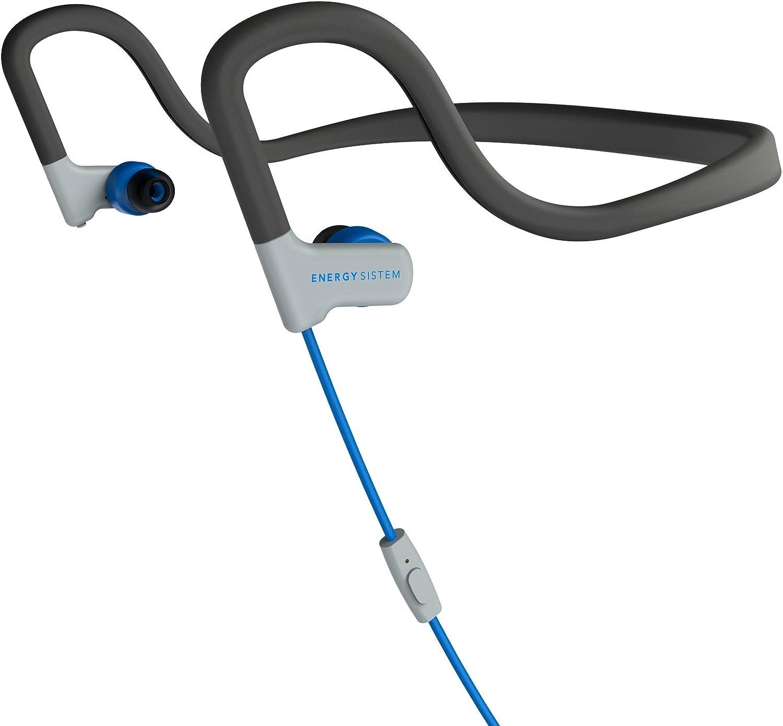 Energy Sistem Earphones Sport 2 (Diadema, Resistencia Sudor y Salpicaduras, Control de reproducción, micrófono y Cable de Audio) Azul
