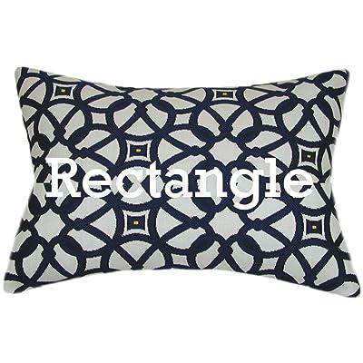 TPO Design, Sunbrella Luxe Indigo Indoor/Outdoor Patio Pillow 12x18 (Rectangle): Home & Kitchen