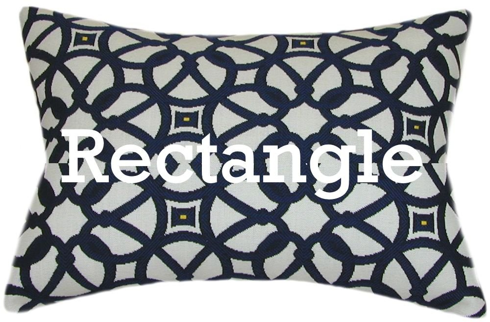 TPO Design Sunbrella Luxe Indigo Indoor/Outdoor Patio Pillow 12x18 (Rectangle)
