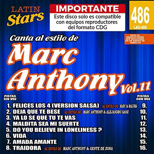 Karaoke Latin Stars 486 Marc Anthony Vol.11 - Importante: Este disco solo es compatible con reproductores del formato ()