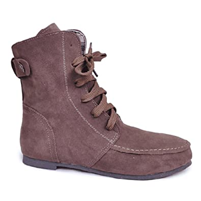 9ffed8d0141 Amazon.com | Wonshine Women Winter Boots Flat Martin Ankle Boots Faux Suede  Lace Up Shoes | Snow Boots