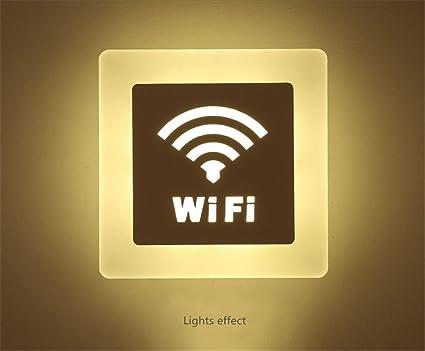 Applique da parete a led w bianco caldo lampada da parete