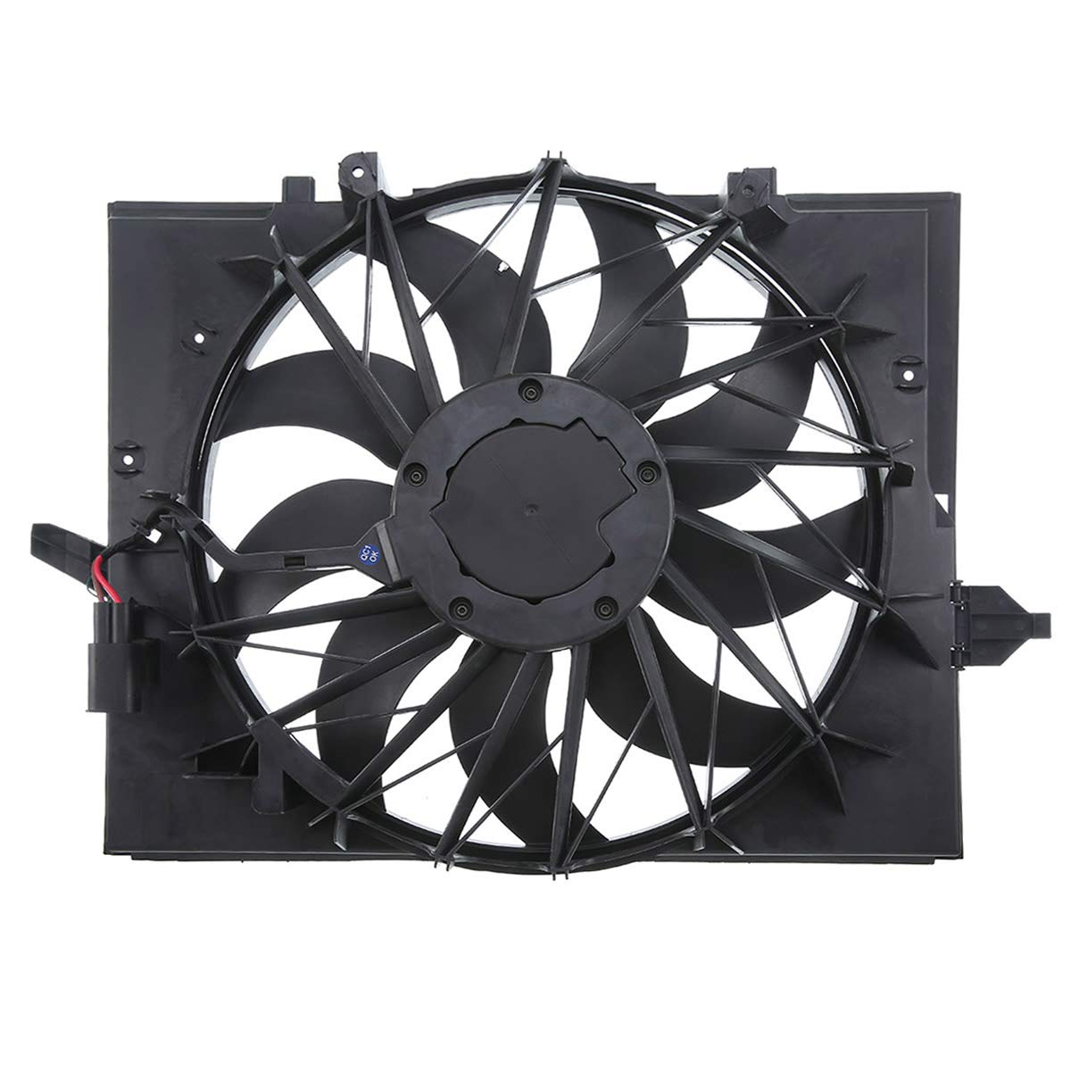 A-Premium Radiator Cooling Fan Assembly for BMW E60 E61 E63 E65 5 7 Series 525i 525xi 528i 530i 530xi 545i 645 Ci 750i 750Li