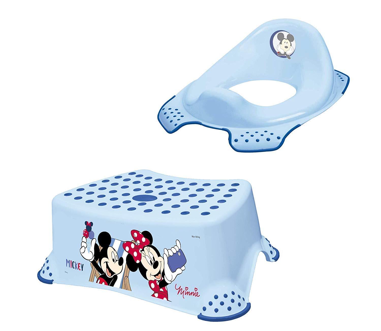 Mickey Mouse Disney Tabouret Ensemble 2 pi/èces Si/ège r/éducteur pour WC
